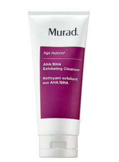 Murad AHA/BHA Exfoliating Cleanser - https://www.sephora.com/product/aha-bha-exfoliating-cleanser-P4010